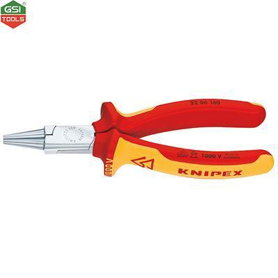 Kìm uốn dây cách điện VDE 1000V Round Nose Pliers Knipex 160mm