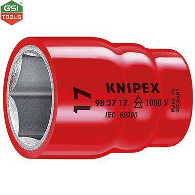 """Đầu khẩu cách điện VDE 1000V Hexagonal screws Knipex cỡ 17mm-3/8"""""""